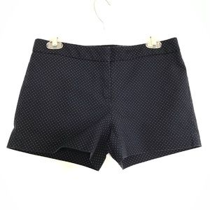 Cynthia Rowley 4 navy blue polka dot shorts